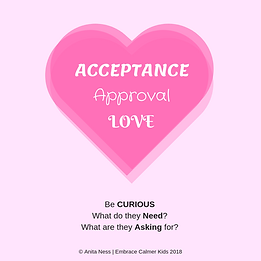 Acceptance, Approval, Love_Be Curious_EMBRACE Calmer Kids #Anita Ness