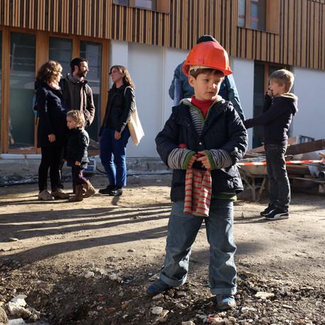 Visite de chantier dédiée aux enfants au Jardin divers