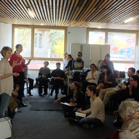 rencontre au Jardin divers avec des etudiants en urbanisme des Pays-Bas