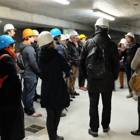 Visite de chantier au CUB avec les architectes