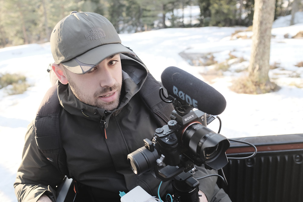 Kameramann i vinterlandskap