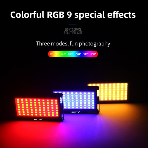 Colorful RGB LED Video Light Dimmable