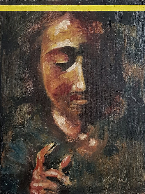 Christ with Yellow Crown Original