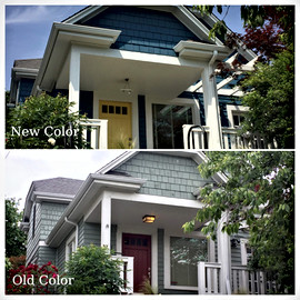 Before/after exterior paint