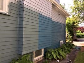 Sampling exterior paint colors