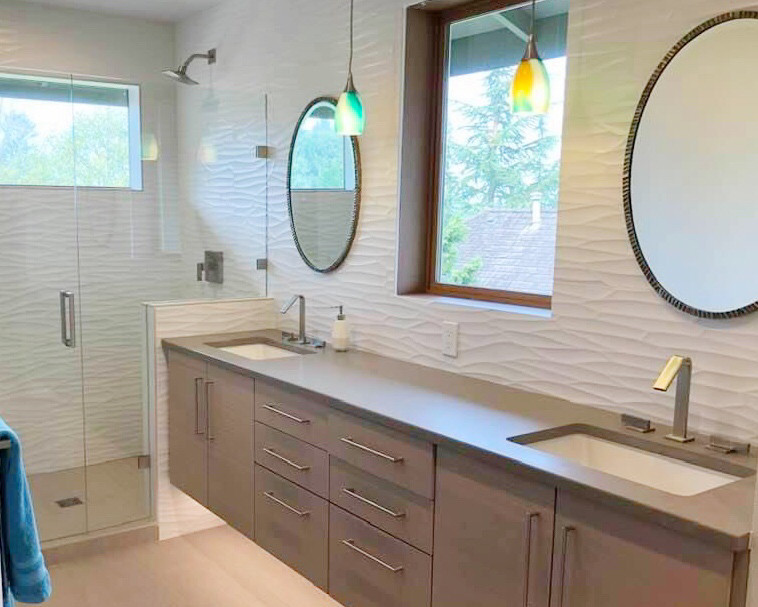 the bathroom transformation after remodeling