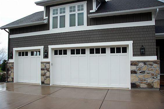 White-painted garage door - image via Pinterest