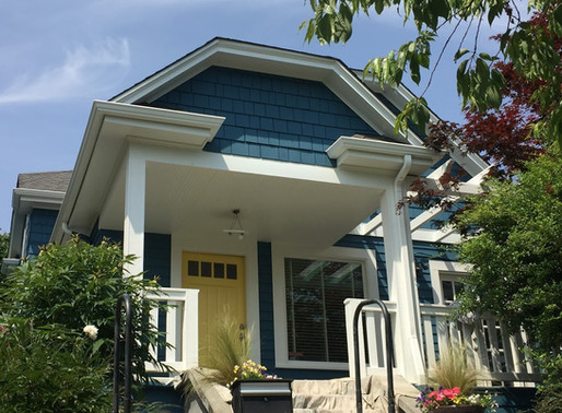 NEVER CURB YOUR ENTHUSIASM -  Colorful Exterior Paint Adds Charming Appeal to Neighborhood