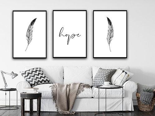 Hope Set of 3 Prints