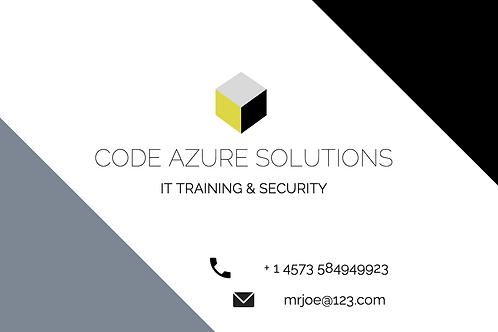 Azure Minimalist Business Card