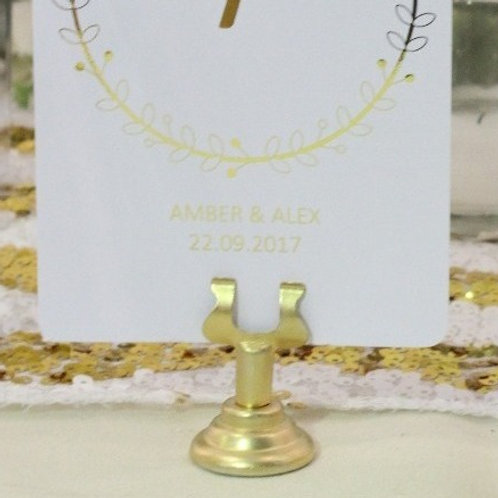 Gold Menu/Table Number Clip