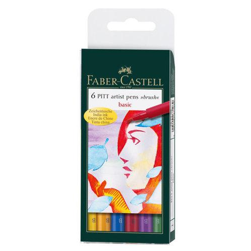 6 PITT Artist Pen - Soft brush - Basic colors