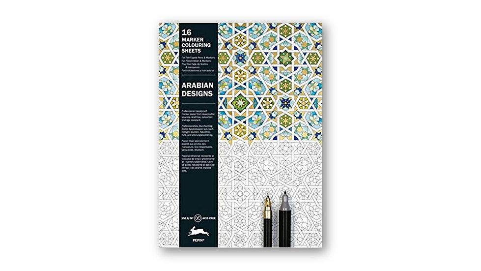 Arabian designs - דפי צביעה