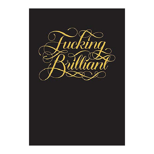 Fucking Brilliant Flexi Journal - פלאנר פאקינג בריליאנט