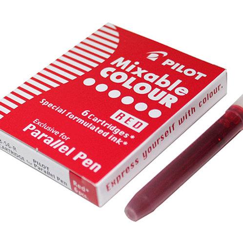 מילוי דיו לעט פרלל - אדום