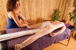 legs massage with rotations