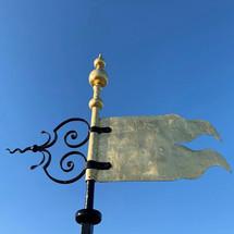 WAGS gilded flag & blue sky.jpg