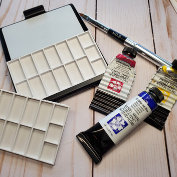 TravelWatercolor paint palette w magnetic removable palette insert.