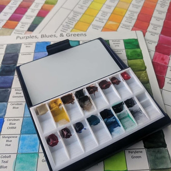 Travel Palette with Slant Wells