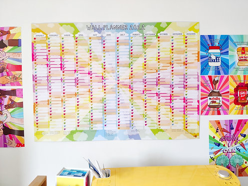 Clouds Wall Planner - A1