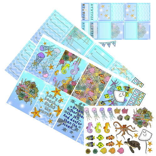 Under the sea - weekly planner kit