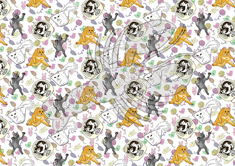 Cats Cats Cats Acetate/Vellum A4 sheet