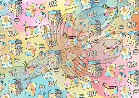 UKPA pastel doodle Acetate/Vellum A4 sheet