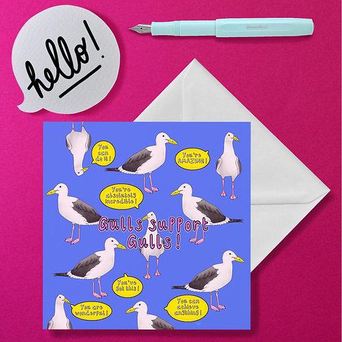 Gulls support gulls