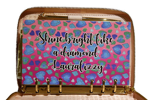 Shine Bright Like A Diamond Foiled Dashboard *PERSONALISED*