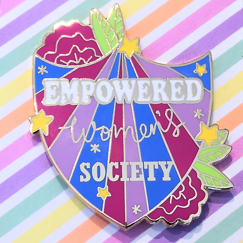 Empowered Women's Society large pin