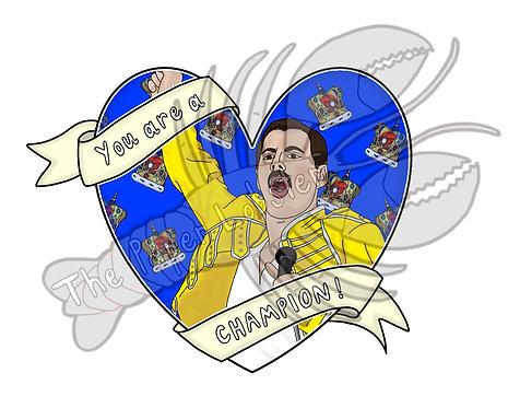 Freddie Mercury sticker vinyl