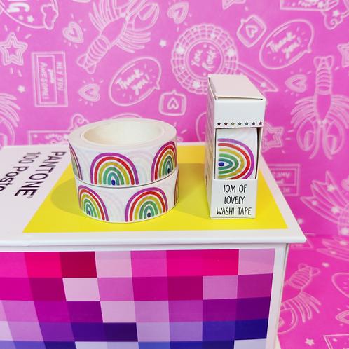 White Rainbow Washi Tape