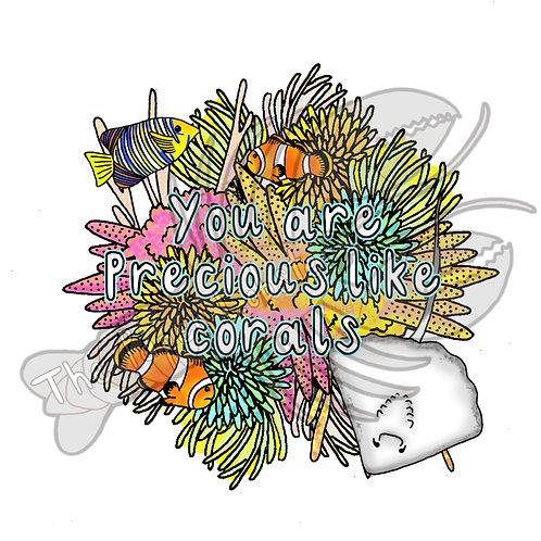 Precious corals sticker vinyl