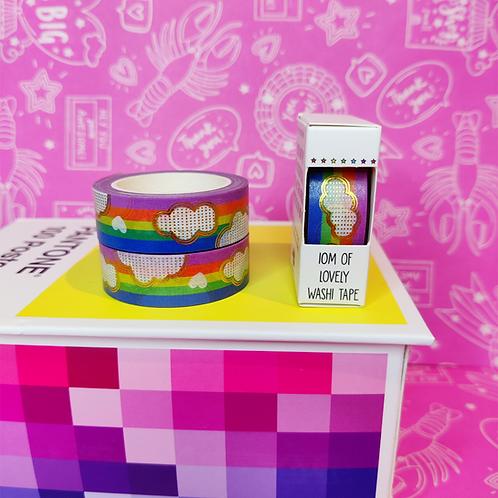 Rainbow Cloud Foiled Washi Tape