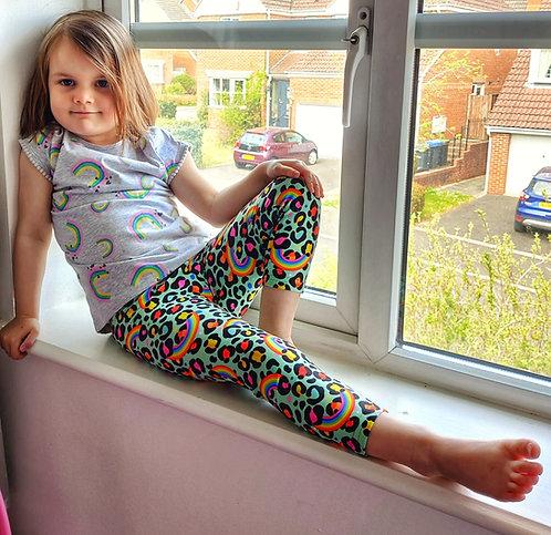 Rainbow Leopard Leggings -KIDS