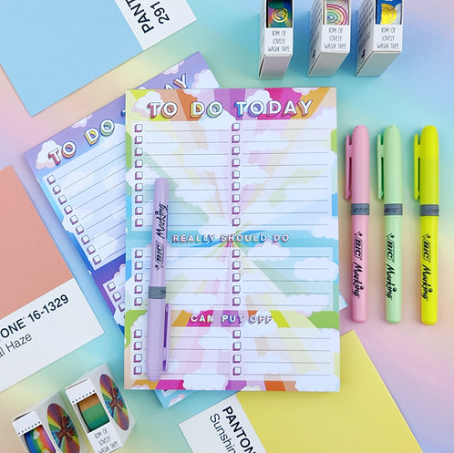 Clouds To Do List Pad - A5