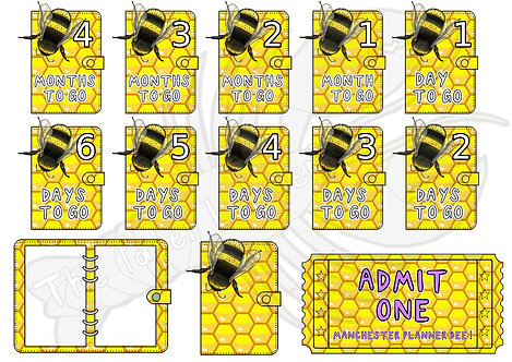 MINI - Manchester Planner Bee Countdown