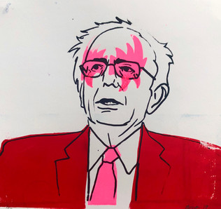 Bernie Kiss Print