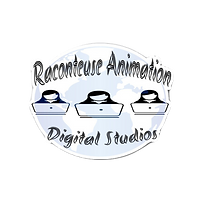 Blue & White Raconteuse Animation Die Cu