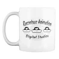 B & W Raconteuse Animation Mug $14.99