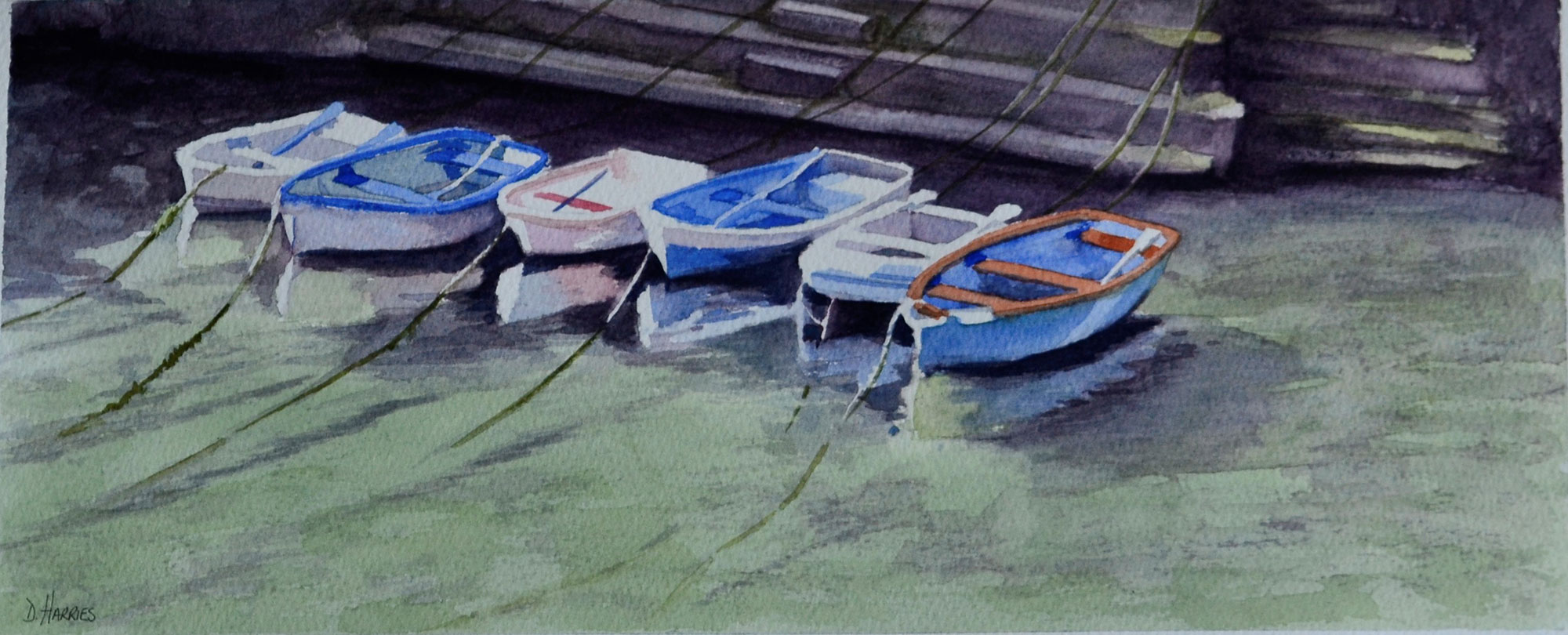 Boats at Porthclais Harbour