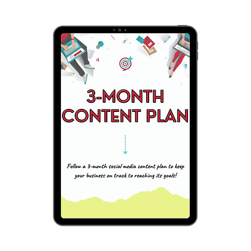 Custom 3-Month Content Plan