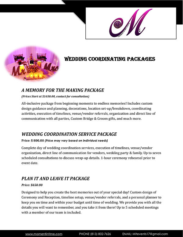 Moment In Time Events Pricing Lists pdf-