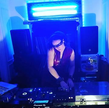 photo of Tina Hart DJing