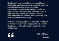 ORORA RegCentric partnership