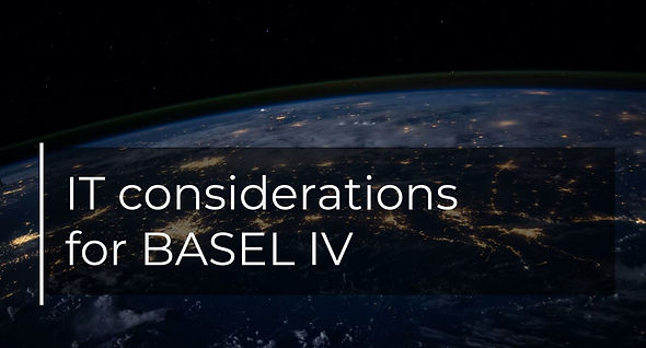 Increased data volumes, outdated batch systems, heightened expectations from the business for ad hoc analysis, stress testing and deeper insights. Solution delivery teams should take the opportunity of mandated change to review their processes and systems for capital and credit risk management and implement the Basel changes in a future proof solution. In this whitepaper we look at the IT implications of Basel III/IV.