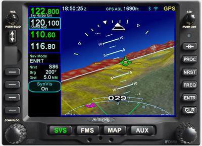 Avidyne IFD 550 FMS Navigator