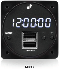 MD93 Series Digital Clock/USB Charger