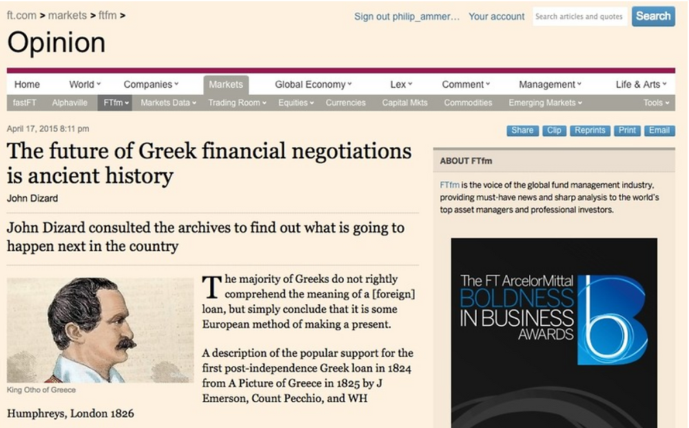 Financial, Times, Article, Greece, Finance, Negotiations, Debt, Investment, Navigator, Consulting