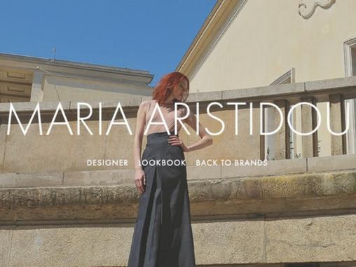 Maria Aristidou exhibits at the New Couture Show, Paris